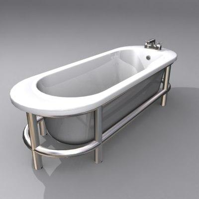 modern bath 3d ma