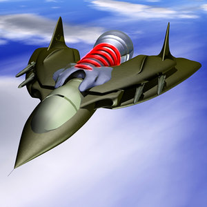 fighter spacecraft spaceship 3d model