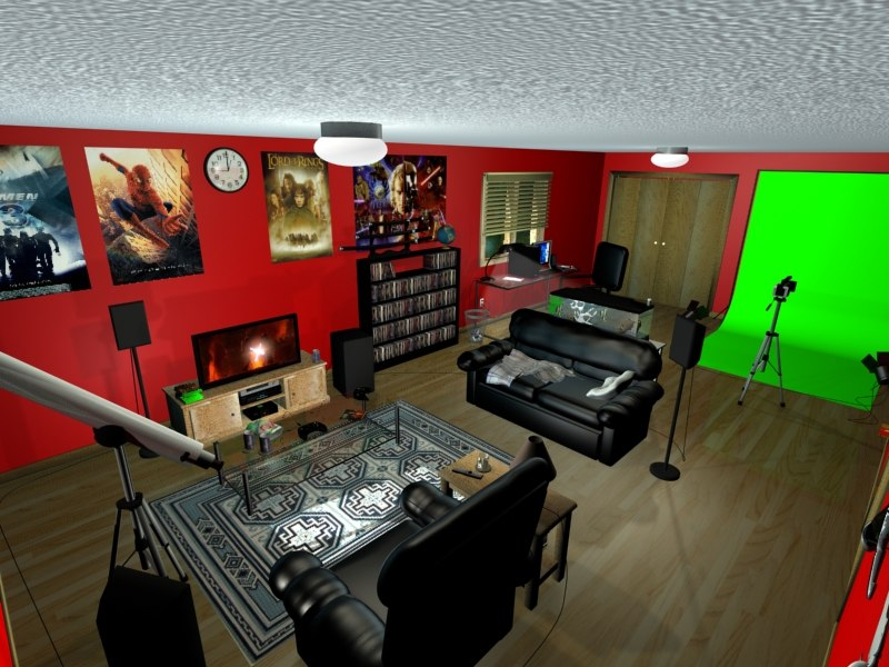 3d environment entertainment room