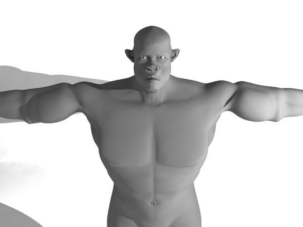 strong man obj