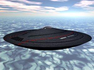 ufo cia saucer 3d model