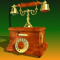 3d old telephone model