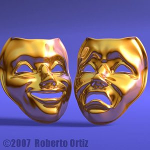 theater masks 3d lwo