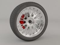 3d model rim wheel tire