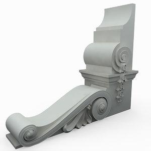 3d corbel outdoor model