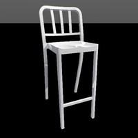 3d model heritage stacking barstool