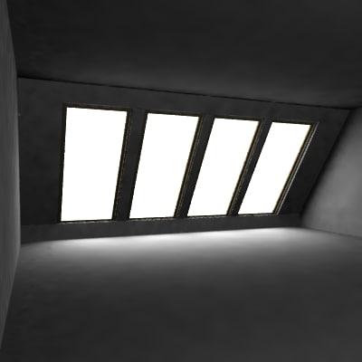 3d windows interior scene