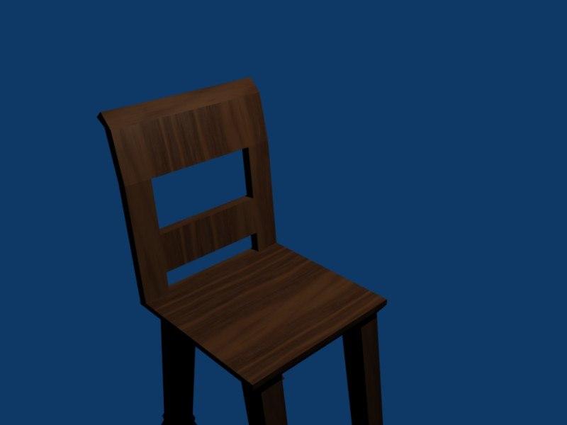 free low-poly wood 3d model