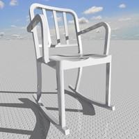 3d heritage rocking armchair