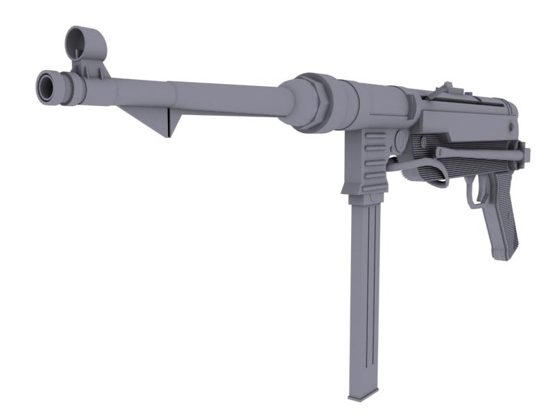 german ww2 mp40 3d model