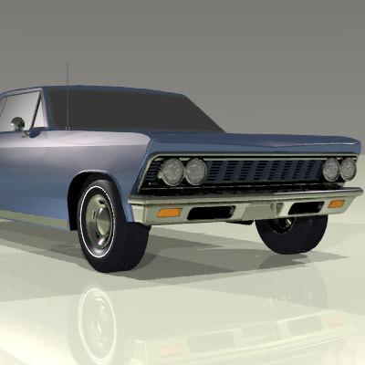 3d model muscle car