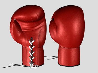 boxing gloves 3d lwo