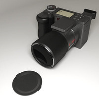 generic digital camera 3d model