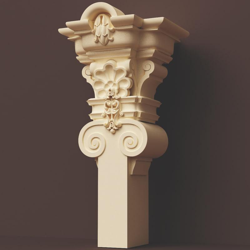 3ds max classic colum column exterior
