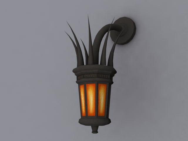 3d model gothic wall light