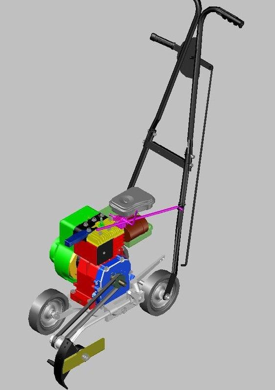 lawn edger 3d model