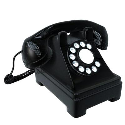 black antique phone 3d model