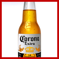 3d corona beer bottle model