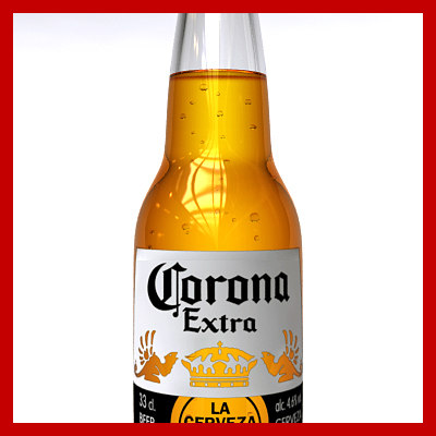 3d corona beer bottle model