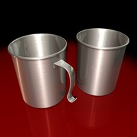 stainless steel mug 3d model