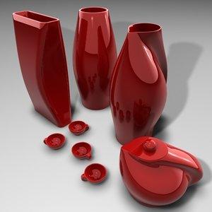 maya vases teapot jars cups