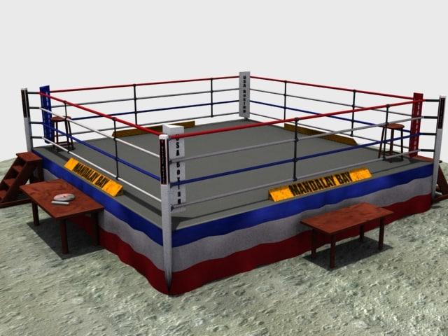3d model boxing ring