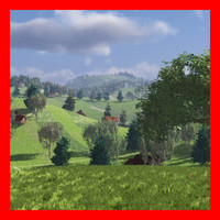 Complete meadow landscape for Vue 6