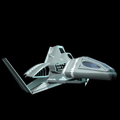 3d spacecraft spaceship space
