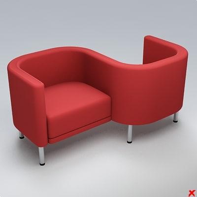 3d chair waiting