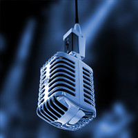 3d microphone chrome hanging