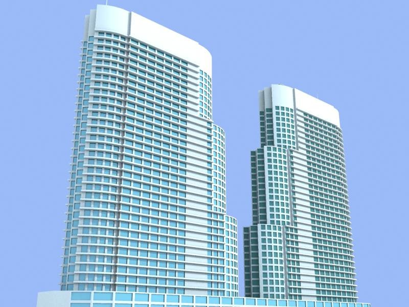 kuala lampur hotel building 3d 3ds