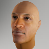 3d max realistic male head morph