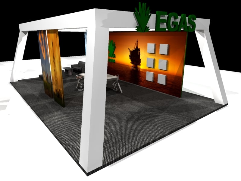 exhibition booth 3d max