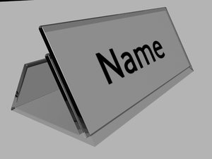table card 3d model
