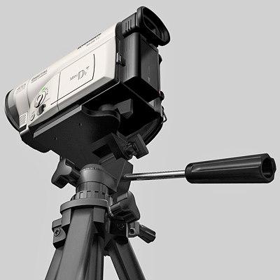 dv camera tripod 3d max