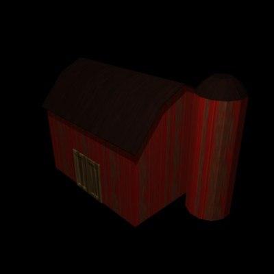 3d model barn building
