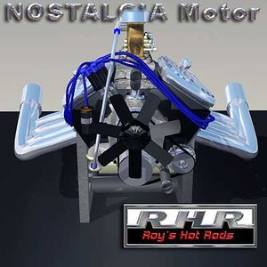 free nostalgia motor 3d model