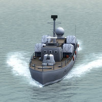3d model chinese navy huangfeng osa-i