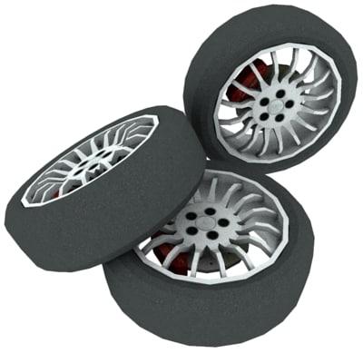 wheel tire 3d model