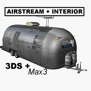 airstream trailer 3d model