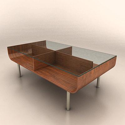 unit table 3d model