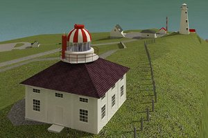 lighthouse houses 3d max