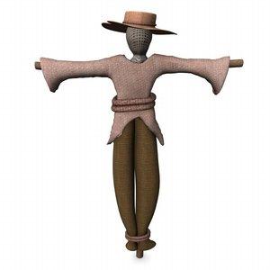 3d scarecrow scare model