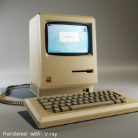 3d model apple macintosh computer