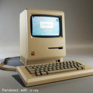 3d model apple macintosh computer