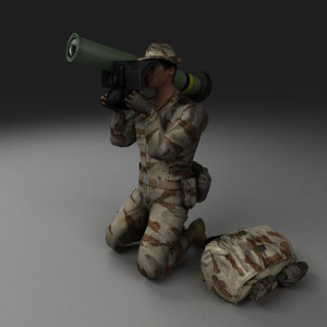 delta force character rigged 3d model
