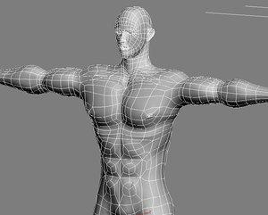 realistic male facial morph 3d model