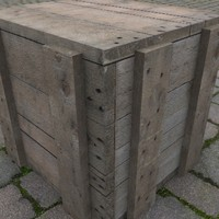 Old Wood Crate 3D Model