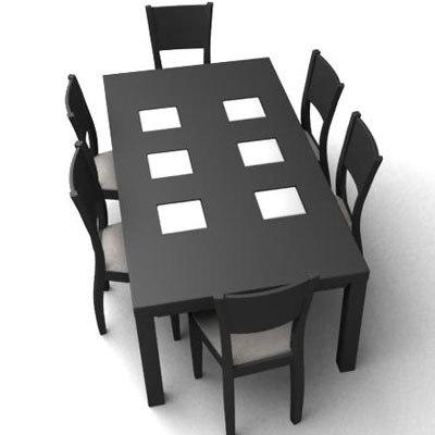 3d table chairs zen model
