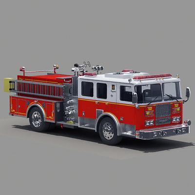 truck pumper 3d model